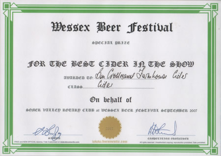 Wessex Cider Festival 2007 - Best in Show