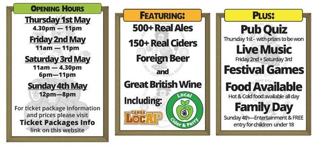 Reading Beer & Cider Festival 2014 info