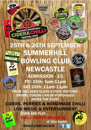 Newcastle Round Table Cider Chilli Festival 2015