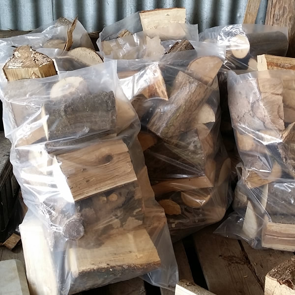 Seasoned Logs in bags